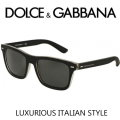 Dolce & Gabbana Rectangle Rubber Frame Men's Sunglasses - Available In Black