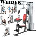 Weider Pro Weight System With 6 Separate Stations, 55 Possible Exercises And Fitness Chart