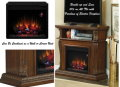 "Versatile Dual Media 23"" Electric Fireplace Fits in Corner or Wall in Burnished Walnut"