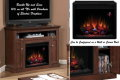 Traditional Style MultiFunction Electric Fireplace Featuring Wall or Corner Unit in Antique Cherry