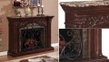 "Luxurious Empire Cherry Electric Fireplace w/Extra Large 33"" Insert Featuring Sold Dark Marble Top"