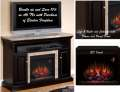 "Brighton Coffee Black Electric Fireplace W/ 23"" Infrared Quartz Heater Insert & Remote"