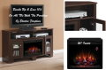"La Salle Midnight Cherry Electric Fireplace With 26"" Insert Heater & Remote"