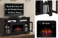"La Salle Oak Espresso Electric Fireplace With 26"" Insert Heater & Remote"
