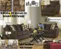 Extreme Living Room Makeover 15-PC Total Room Pkg Featuring Soft Chenille Walnut Upholstery