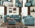 Best Value Yet; 3-PC Sky Blue Upholstery Package Featuring Contemporary Design & Choice Of 7-Colors