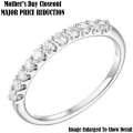 Jewelry Closeout - Women's Slim 14K White Gold Diamond Wedding Band - MAJOR PRICE REDUCTION