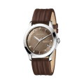 Gucci G-Timeless Collection Brown Leather Men's Watch With Bronze Dial