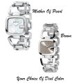 Gucci G-Gucci Stainless Steel Women's Watch With Mother Of Pearl Or Brown Sun-Brushed Dial