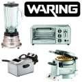 Waring 4 Piece Houseware Bundle Including Blender, Deep Fryer, Waffle Maker & Toaster Oven