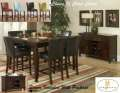 8-PC Dining Pkg Is Highlighted By The Beveled Wood Edges, Faux Marble Table Top & Counter Hgt Design