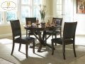 Traditional By Design W/Clean Lines, This 5PC Dinette In Deep Cherry Is Great For Smaller Spaces