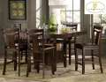 Arts & Crafts Styling Bring Added Warmth To Your Dining Area W/7PC Counter Height Pkg W/Storage Base