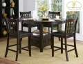Create A Warm & Inviting Feel Featuring Counter Height Pedestal Table W/Storage & Oval Top