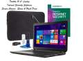 Value Package! Toshiba 15.6 Laptop, Internet Security Software, Screen Cleaner, Sleeve & Flash Drive