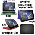 HP Pavilion 11.6' Tablet Notebook With Windows 10 In Your Choice Of Green, Purple Or Red & Sleeve