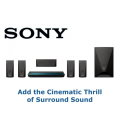 Sony Black 5.1 Channel 3D Blu-ray Home Theater System With Built-In WiFi & Digital Music Enhancer