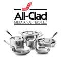 All-Clad 10-Piece Stainless Cookware Set Featuring 5-Ply Construction & Lifetime Warranty