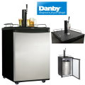 Danby 5.8 Cu Ft Beer Keg Cooler- Automatic Defrost  - Black And Stainless Steel Finish