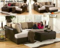 3-Piece Living Room Package Featuring A Stylish Two-Toned Design