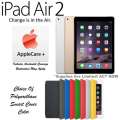NEW Apple 16GB iPad Air 2 W/Retina Display, WiFi & Cellular Plus Choice Of Cover Color & AppleCare+