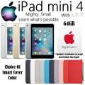 Apple 64GB iPad Mini 4 With WiFi Plus Your Choice Of Cover Color & AppleCare+ Protection Plan