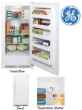 GE 13.8 Cu. Ft. Frost Free Upright Freezer-Available In White