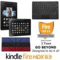 Kindle 16GB FireHDX 8.9 Tablet W/Keyboard, Lthr OrigamiCase & 2Yr Protection Plan+Accident Coverage