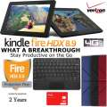 Kindle64GB FireHDX 8.9Tablet W/WiFi&4G Verizon, Keyboard, Case&2Yr Protection Plan+Accident Coverage