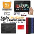 Kindle32GB FireHDX 8.9Tablet W/WiFi&4G Verizon, Keyboard, Case&2Yr Protection Plan+Accident Coverage