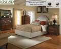 Ashbury Queen Upholstered Bed By Kincaid With Nail Head Trim  -  Choice Of Antique Brass Or Pewter