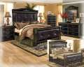 Traditional European Design Combines W/The Deep Rich Brown Finish Of The Coal Creek 8-PC Bedroom