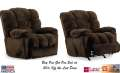 Champion Chocolate Ultra Soft Recliner Featuring 100% Microfiber for Easy to Clean Durability