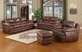 Leather Italia Top Grain 100% Premium Brown Leather in a Casual Contemporary Design