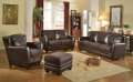 Leather Italia Top Grain All Leather Chocolate; Choice of Sofa & Loveseat or Sofa, Chair and Ottoman