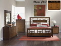 Coffee Stained 6-Piece Bedroom Package Featuring Lattice Bed; A Nostalgic Nod To 1960�s Revival