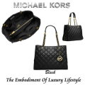 Michael Kors Susannah Quilted Large Leather Tote-Available in Black