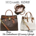 Michael Kors Hamilton Large Logo Tote-Available in Brown Or Vanilla