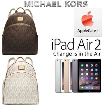 Michael Kors Jet Set Travel Logo Backpack And Apple 16GB iPad Air 2 With 2 Yr AppleCare+
