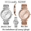 Michael Kors Women's Darci Pave Embellished Watch-Available in Rose Gold Or Stainless Steel With Mat