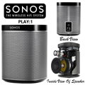 Start A Wireless Home Speaker System With The Sonos Play:1 - Available in Black With Graphite Grill