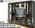 Glitz & Glamour 4PC WallUnit With Self Closing Glass Doors On Pier & Touch Lighting In Mocha Finish