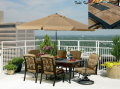 La-Z-Boy Outdoor Caitlyn 7-Piece Dining Set With Umbrella And Stand