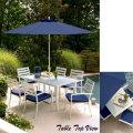 GrandResort AnnaMaria 7PC DiningSet W/Umbrella&Stand Featuring Rust-Resistant Frame & Durable Fabric