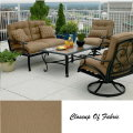 La-Z-Boy Caitlyn 4PC Outdoor Seating Set Featuring Over-Sized Ceramic Tile Table & Deep Cushions