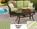 Orleans 2PC Outdoor Seating Patio Set Featuring Hand Woven Straps & Lifetime Rust Free Frame