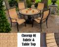 Monaco 5PC Outdoor Dining Set Featuring Heavy Gauge Alumnicast & Hand Laid Natural Stone Tabletop