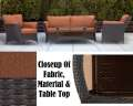 StrathmereAllure 4PC Outdoor Seating Patio Set Featuring Wicker Resin Strapping & Tempered Glass Top