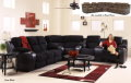 3-PC Two-Tone Sectional Combining Microsuede W/Polyurethane  Dual Reclining Sofa,  Loveseat & Wedge