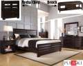 Sleek Modern Design 6PC Pulaski Bedroom Pkg Featuring Geometric Styling In A Deep Sable Finish